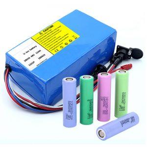 Bateria litowa 18650 48V 12AH 48V 500W Bateria do roweru elektrycznego z BMS