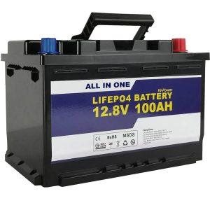 Zamiennik GEL / AGM Bateria słoneczna do przechowywania energii 12v 100ah Bateria litowo-jonowa LifePo4