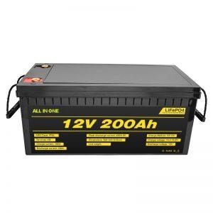 Konfigurowalny akumulator 12V Lifepo4 12,8v 200ah z akumulatorem Lifepo4 o żywotności 2000 cykli