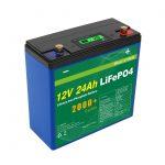 Solar Deep Cycle 24v 48v 24ah Lifepo4 Akumulator UPS 12v 24ah