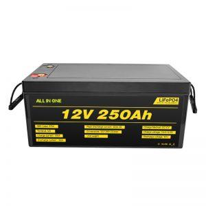 Najpopularniejsze Najlepsze akumulatory do układów słonecznych Akumulator litowo-jonowy 12 V 250 Ah LiFePO4