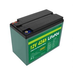 Konserwacja Dostosowany akumulator Solar 12v 40ah 42ah Lifepo4 Cell Lifepo4 z BMS