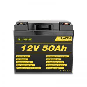 Akumulator 12V 50Ah z głębokim cyklem Lifepo4 do systemu zasilania elektrycznego