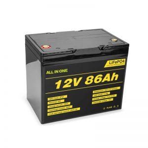 Lifepo4 12v 85ah Akumulator litowo-jonowy z akumulatorem słonecznym Głęboki cykl
