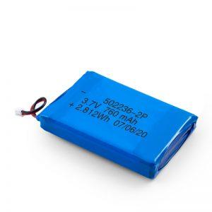 Akumulator LiPO 502236 3,7 V 380 mAH / 3,7 V 760 mAH / 7,4 V 380 mAH