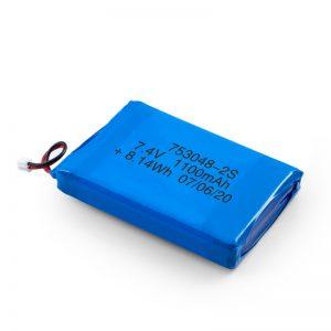 Akumulator LiPO 753048 3,7 V 1100 mAh / 7,4 V 1100 mAH / 3,7 V 2200 mAH