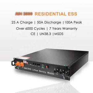 Sieć On / Off 48v 10kW magazynowanie energii układ słoneczny lifepo4 48v 50Ah 100Ah 200Ah akumulator litowy